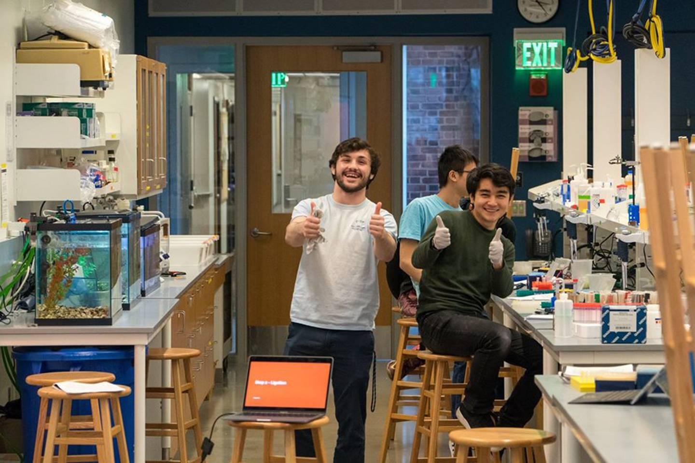 Members of Agara Bio pose during their first molecular cloning workshop