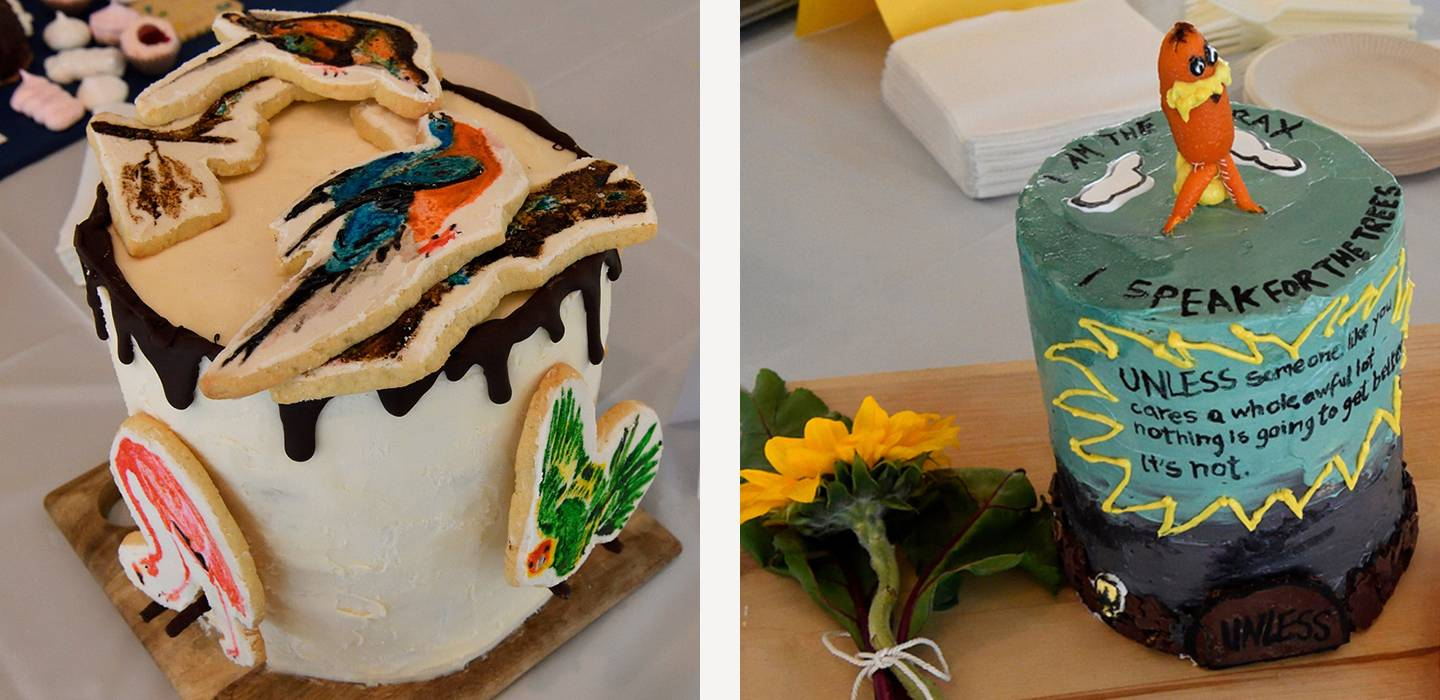 Birds of America and The Lorax cakes