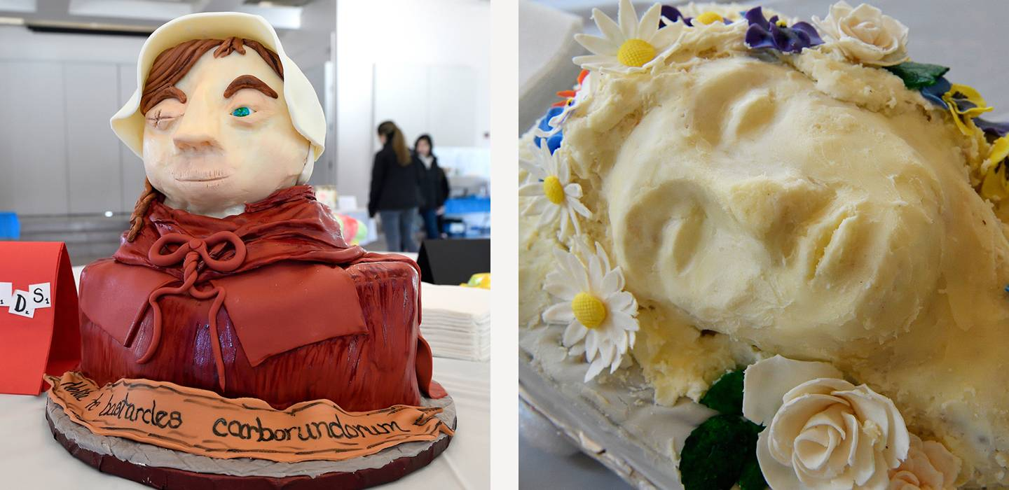 The Handmaid's Tale and Hamlet cakes