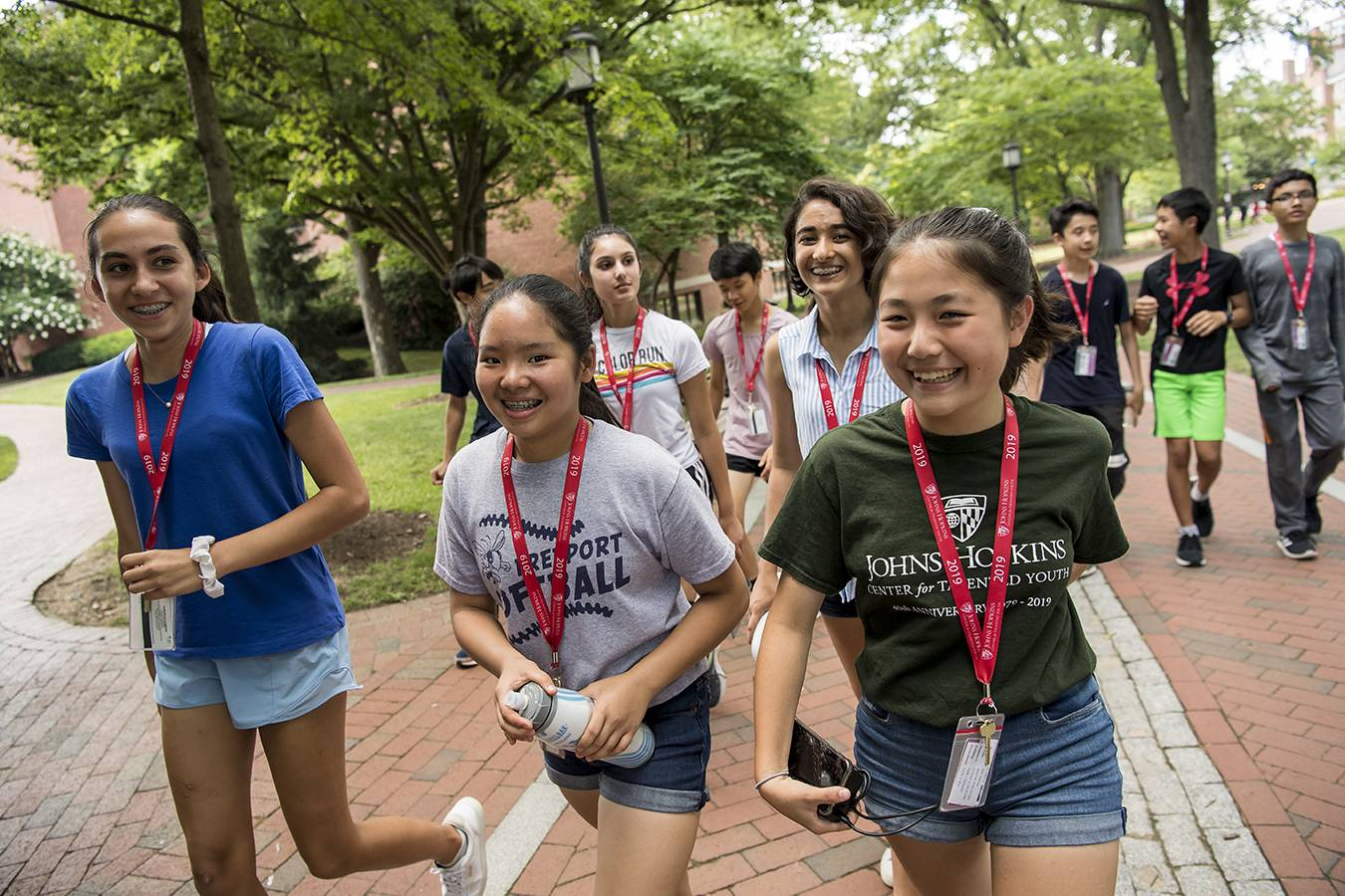 Middle- and high-school students lived and learned on JHU's campus while participating in CTY Summer Programs.