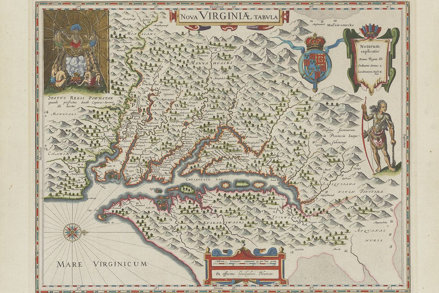 Map from the 1630s