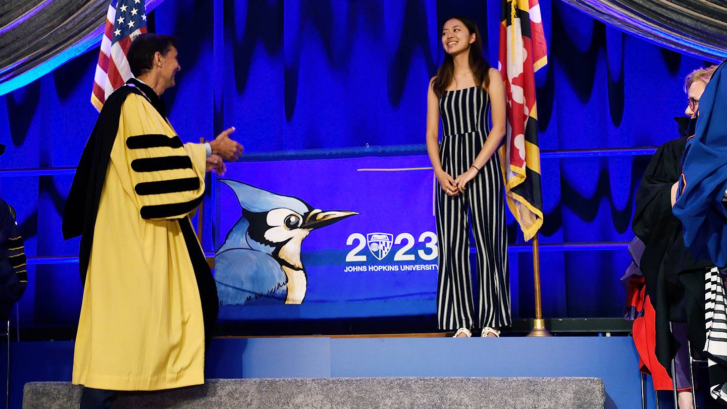 Andrea Zhang is introduced as the creator of the 2023 class banner
