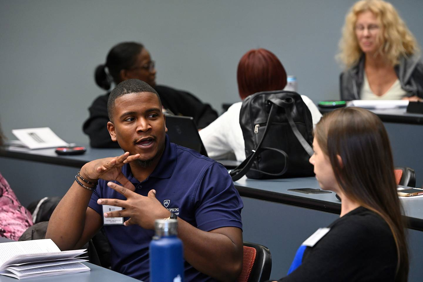 Workshop participants discuss during Diversity and Inclusion Conference