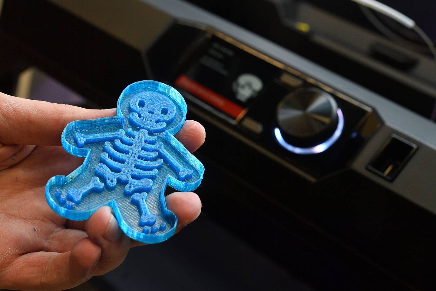 3D printed skeleton cookie cutter