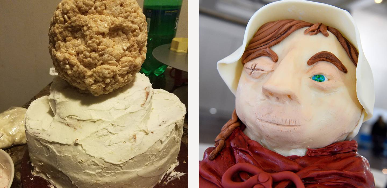Creation of The Handmaid's Tale cake