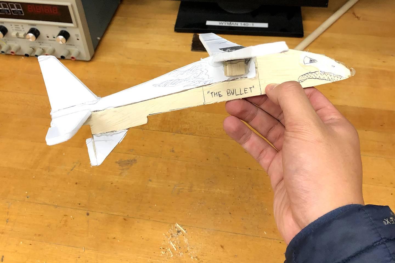 Glider built by Ryan Retino, Class of 2023