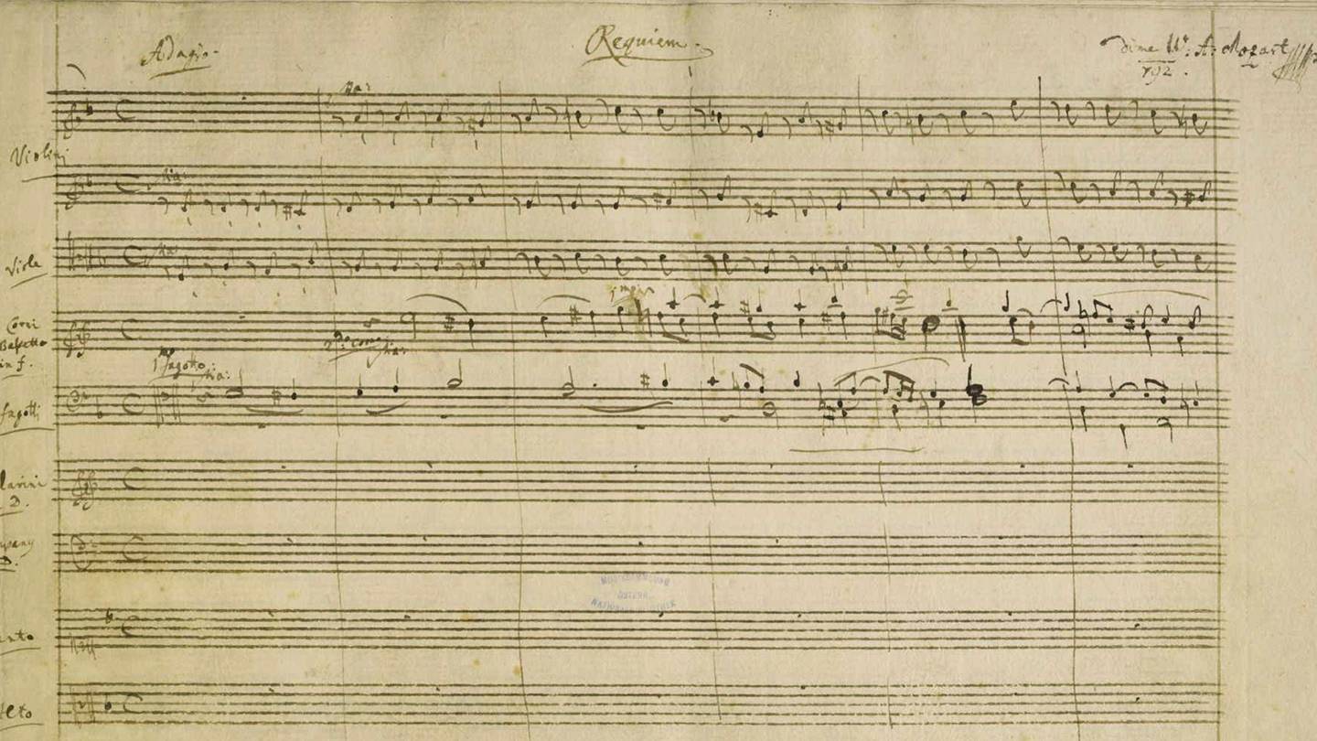 A sheet from Mozart's Requiem