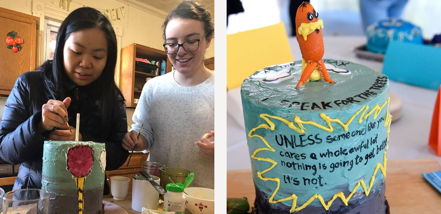 Creation of The Lorax cake