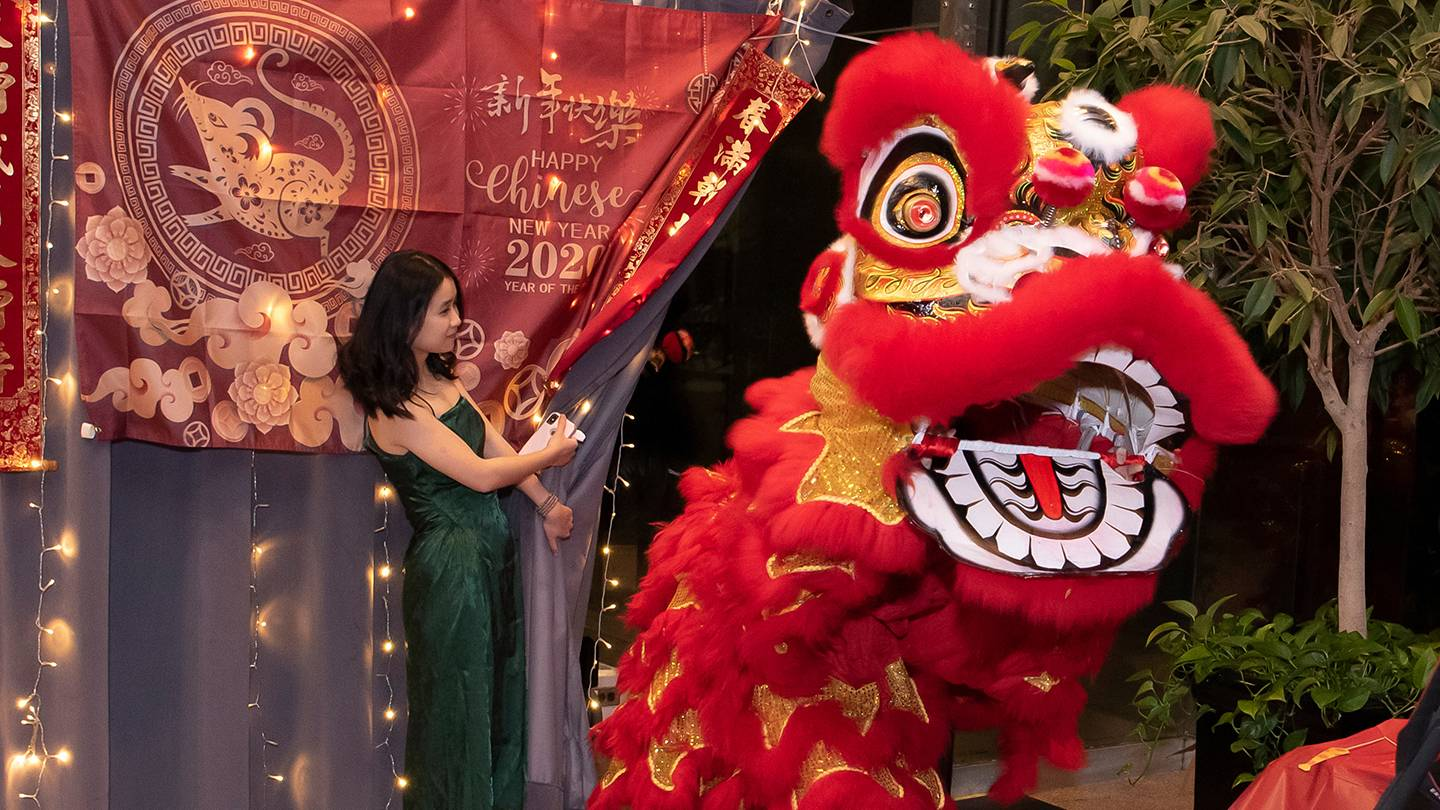 Lion dance at Lunar New Year Banquet