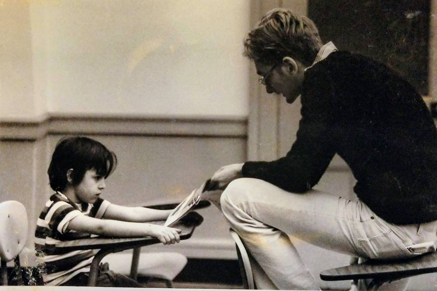 A tutor and child