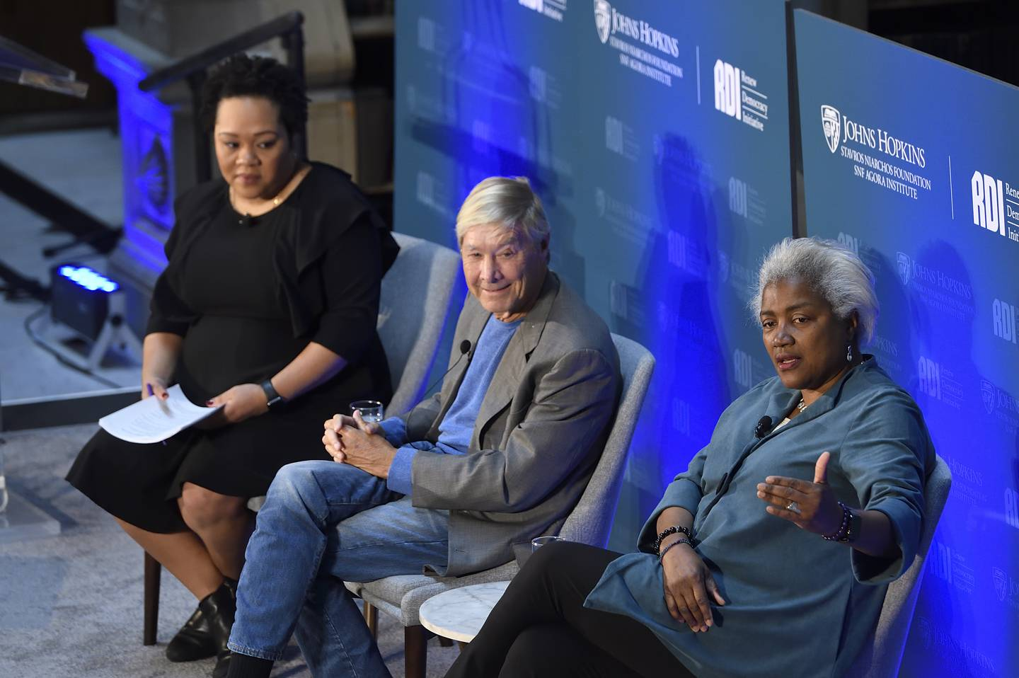 Richard North Patterson and Donna Brazile