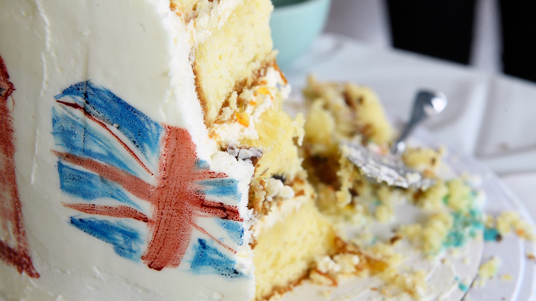 Half-eaten cake