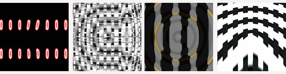 Four abstract images