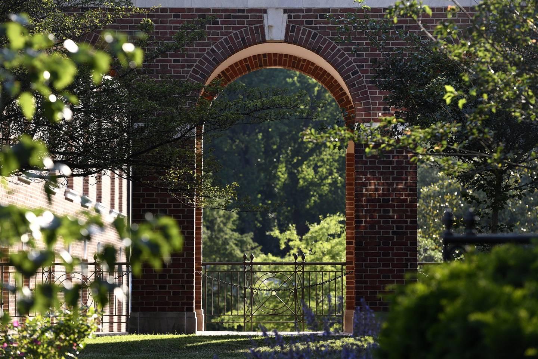 Homewood campus archways in the sunshine
