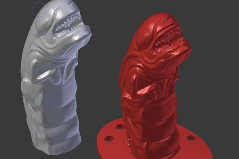 3D Printed Chestburster Alien