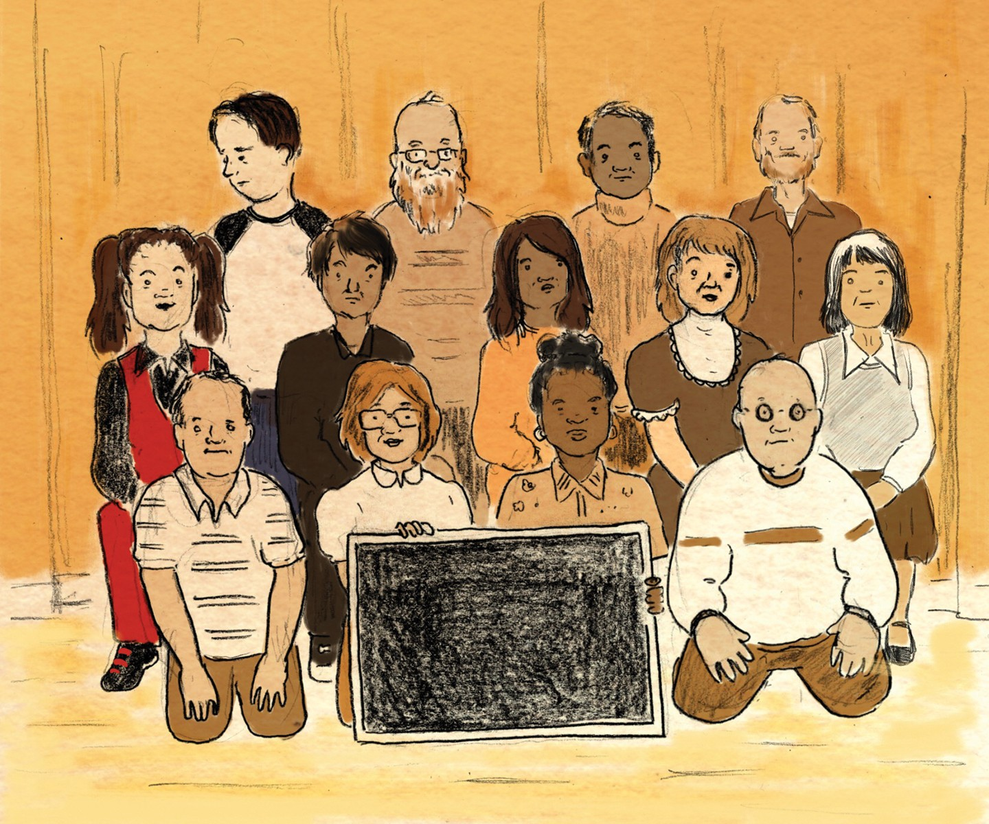 Illustration of class picture