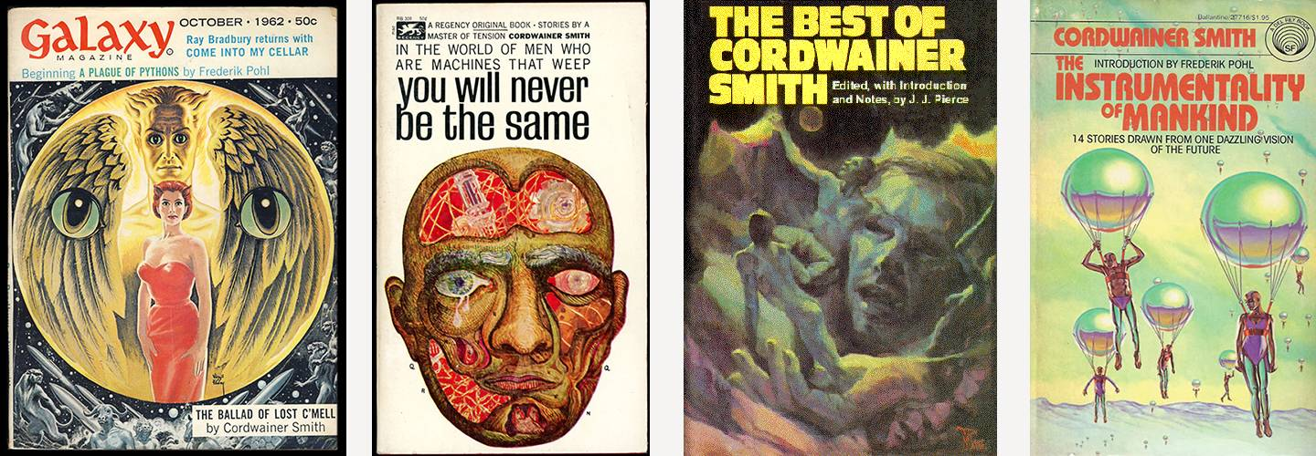 Book covers of Cordwainer Smith's works