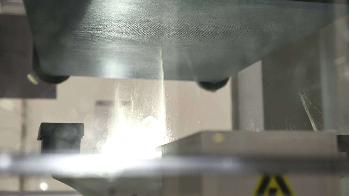 Gossamer-like material is woven into a filter