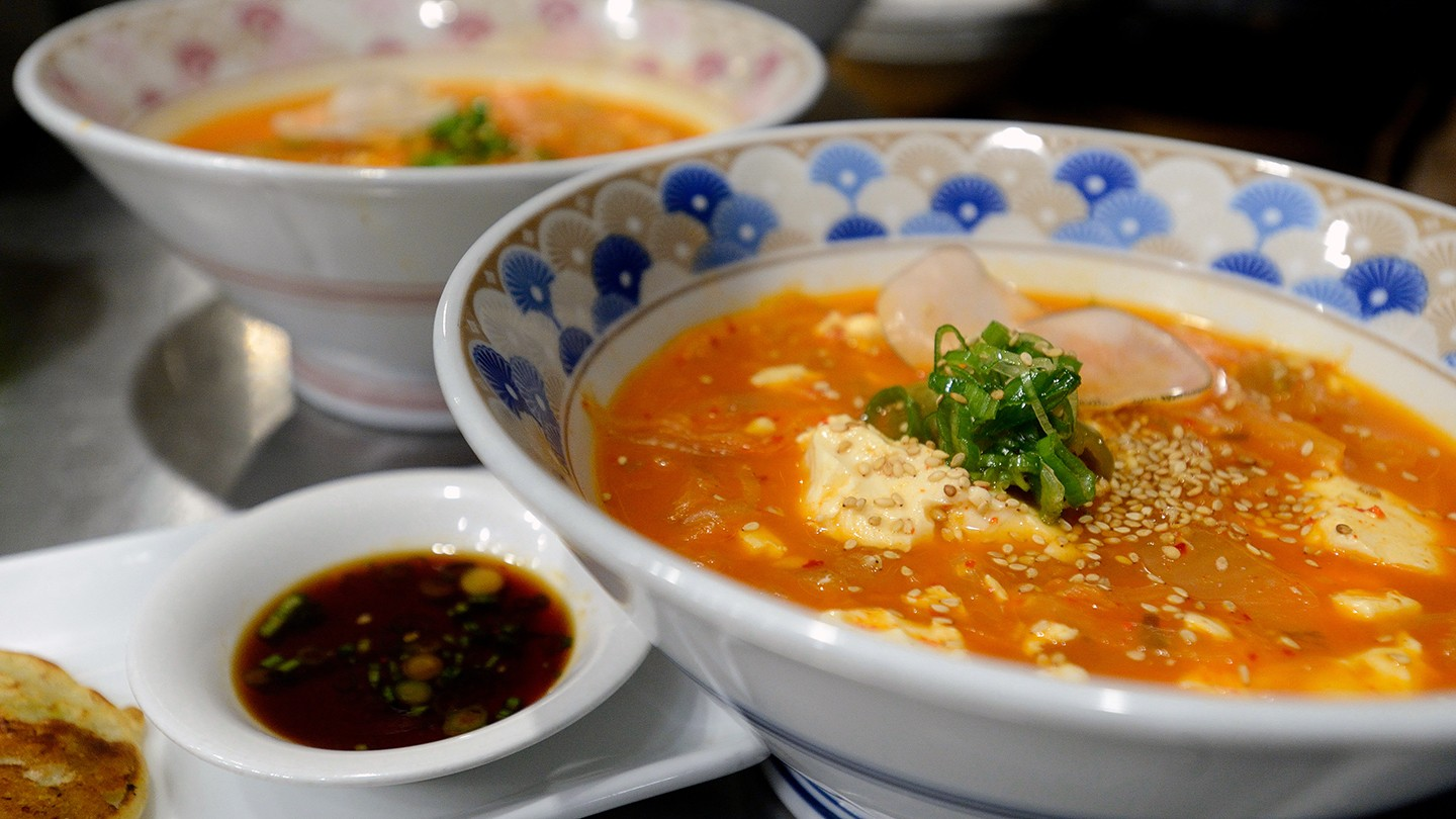 Bowls of Korean soup