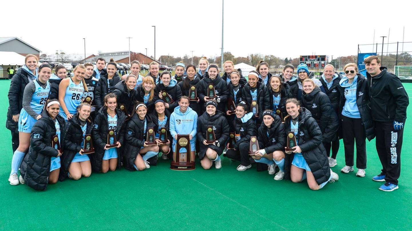 JHU women's field hockey team after NCAA semifinal loss