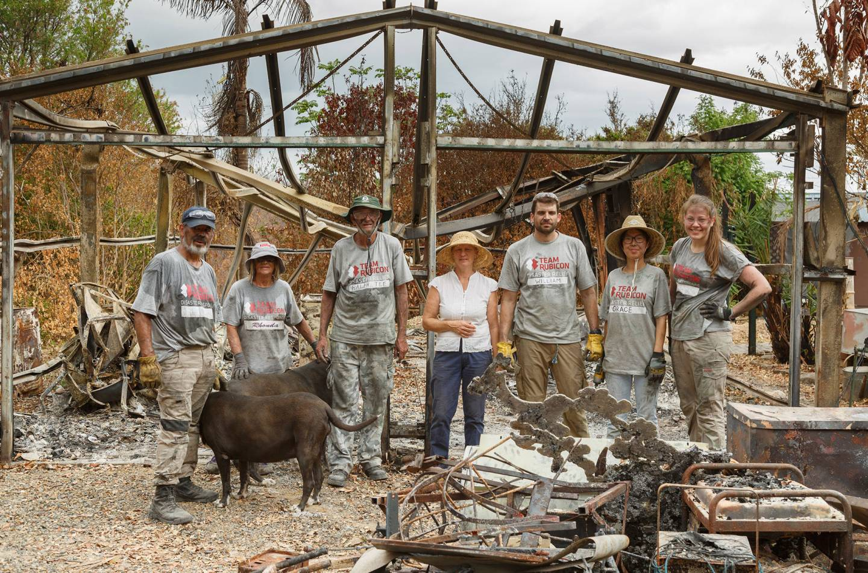 Group photo of Team Rubicon volunteers