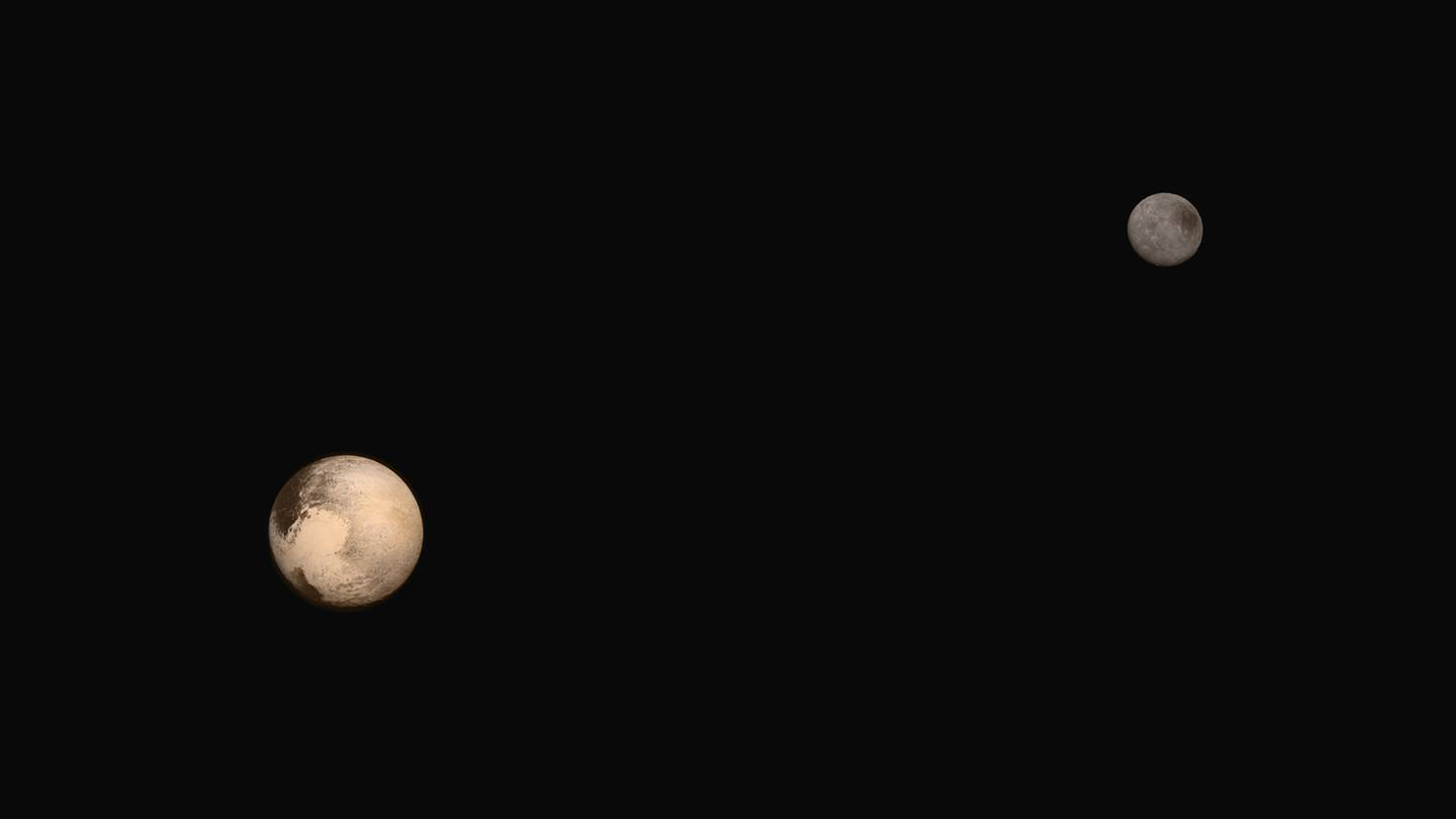 Image of Pluto and its moon, Charon