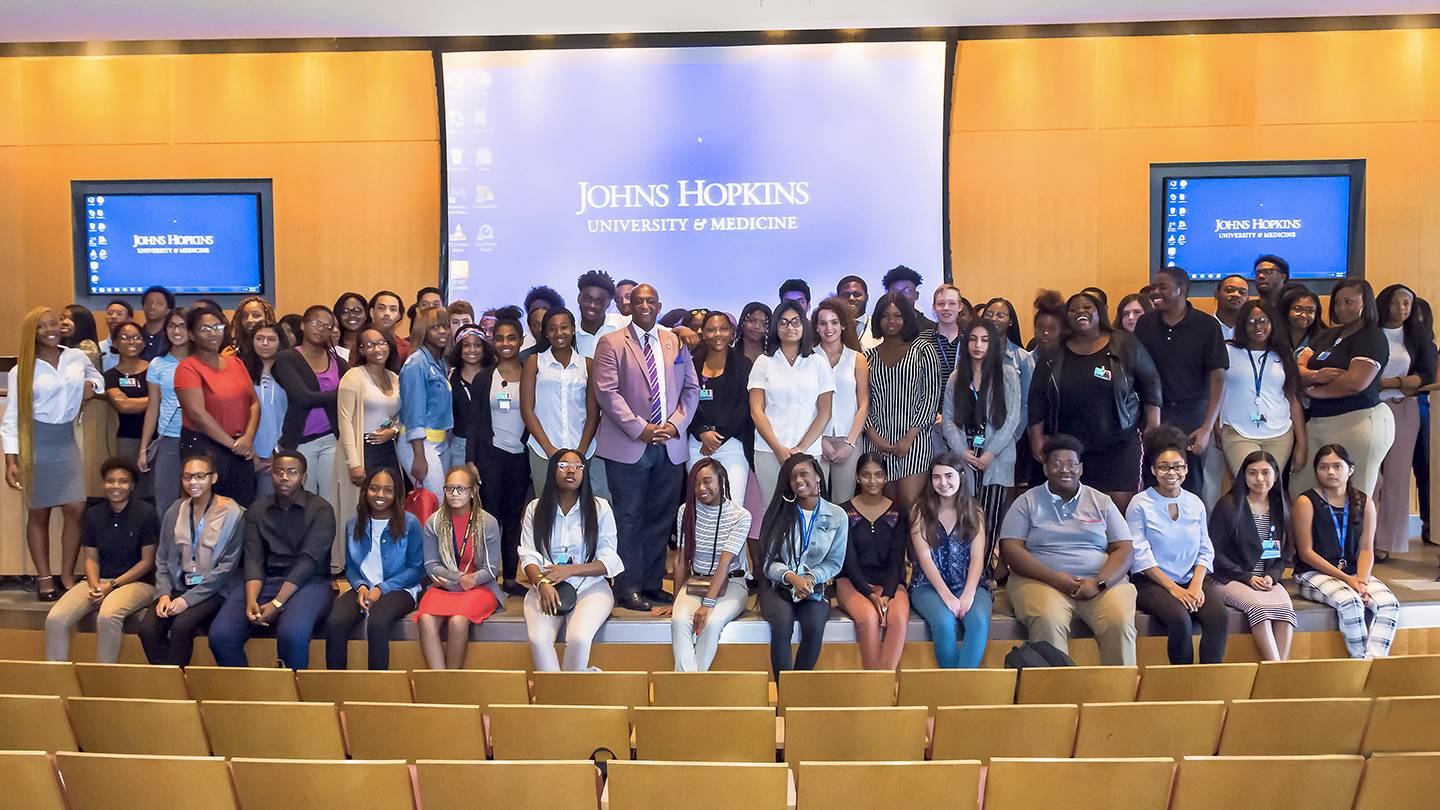 Johns Hopkins summer interns with Baltimore Mayor Jack Young