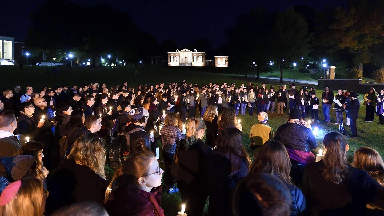 Hopkins Hillel vigil