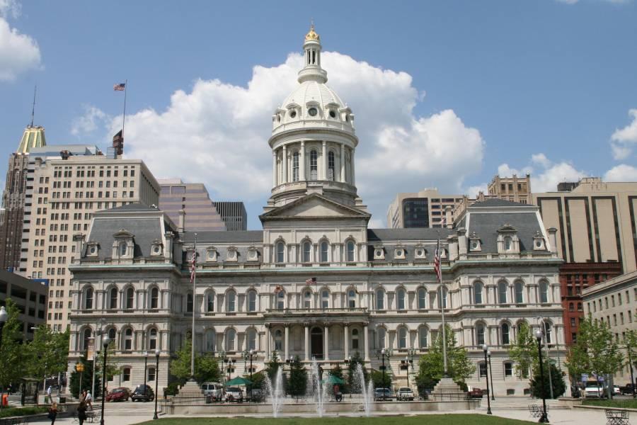 Exterior of Baltimore City Hall