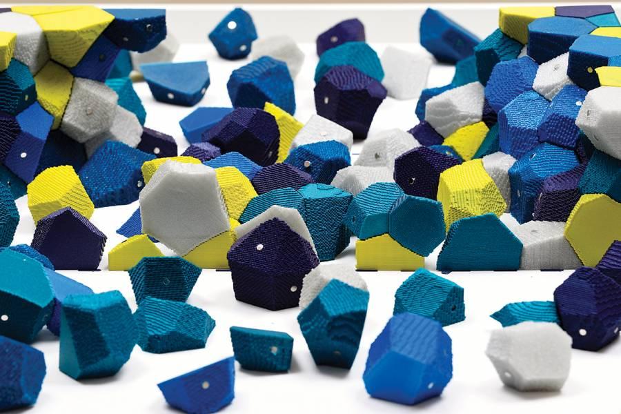 Image of 3D puzzle pieces