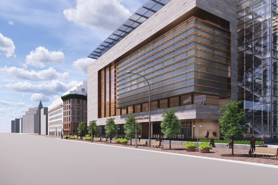 Artist's rendering of 555 Pennsylvania Ave. exterior
