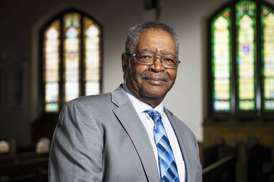 Bishop Douglas Miles at Koinonia Baptist Church in February 2017.