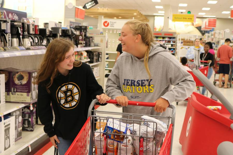 Students shop at the Towson Target