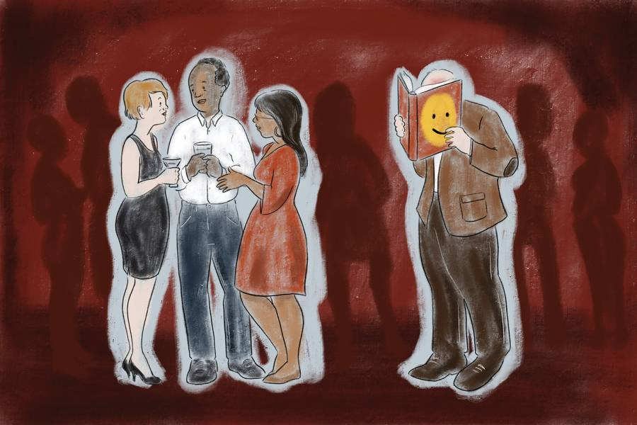 Illustration of introverts and extroverts