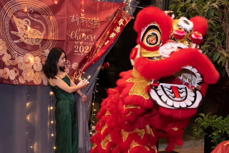 Lion dance at Lunar New Year Banquet