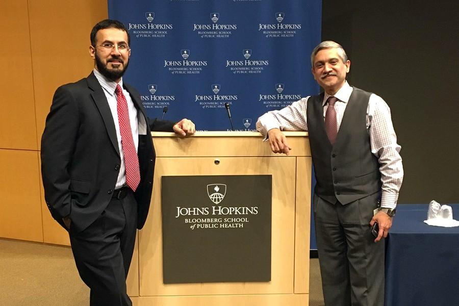 Mansoor Shams (left) and Adnan Hyder