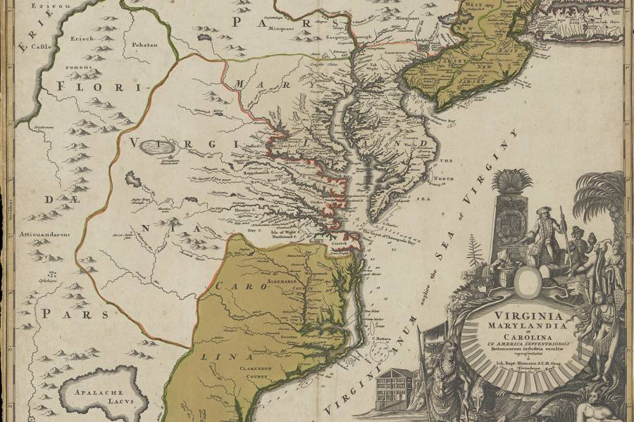 Map from the 1740s