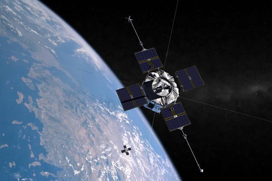 Still of the Van Allen probes in orbit