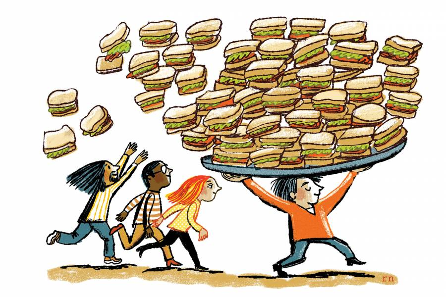 Illustration of sandwiches
