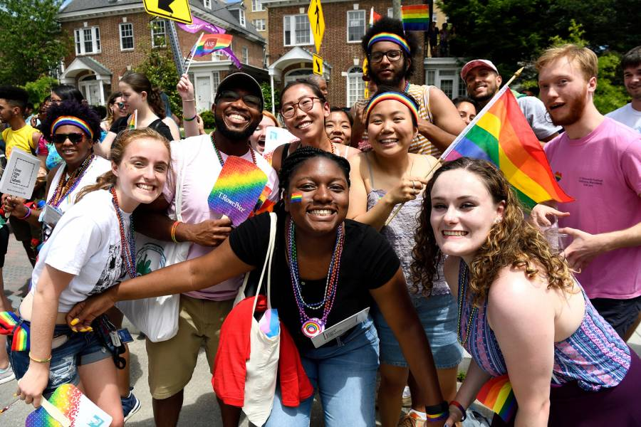 Hopkins community marches at Baltimore Pride