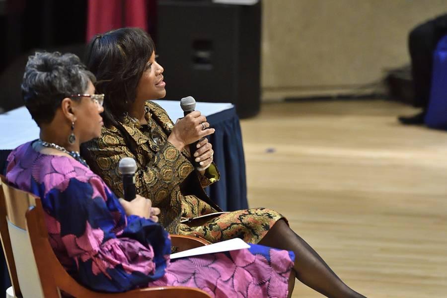 Valerie Montgomery Rice speaks