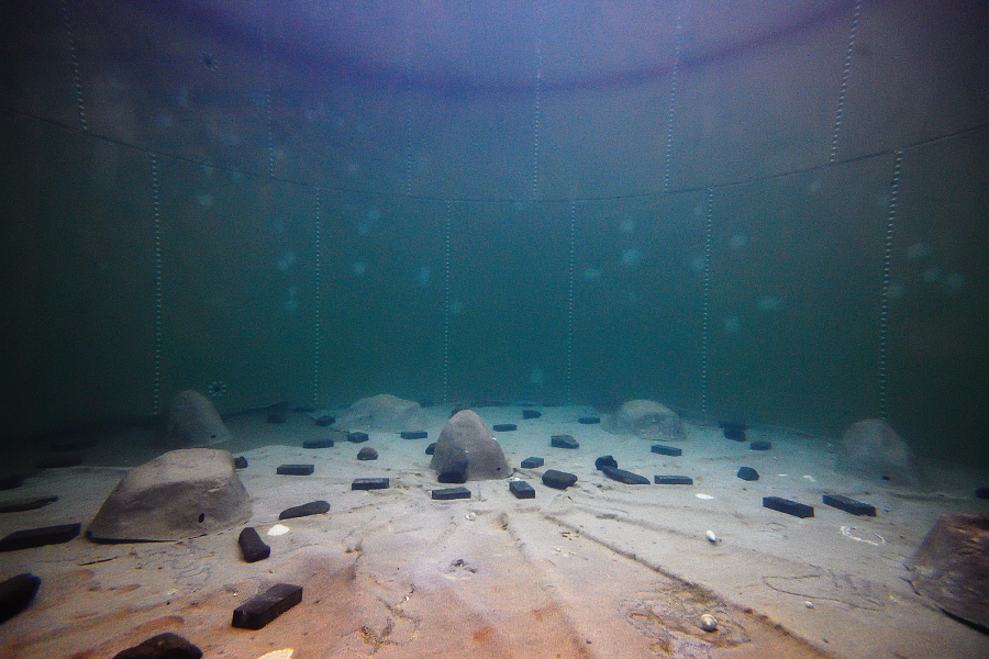 Photograph of underwater test tank