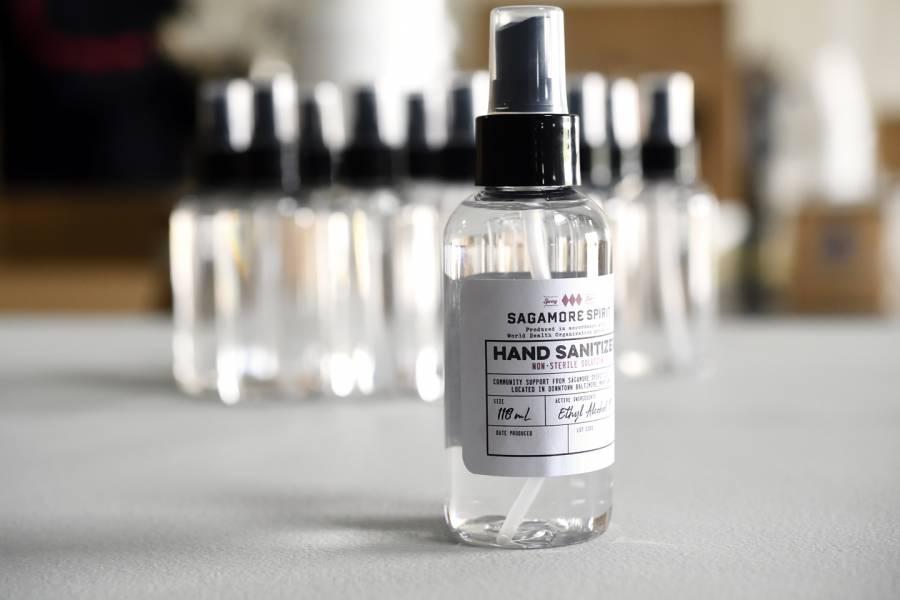 Spray bottle of alcohol