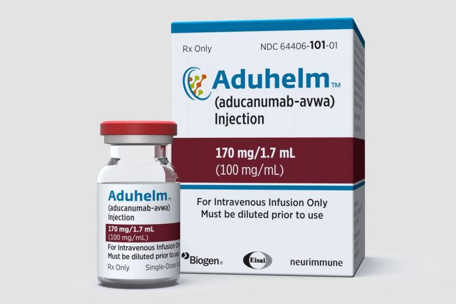 Manufacturer's rendering of Aduhelm packaging