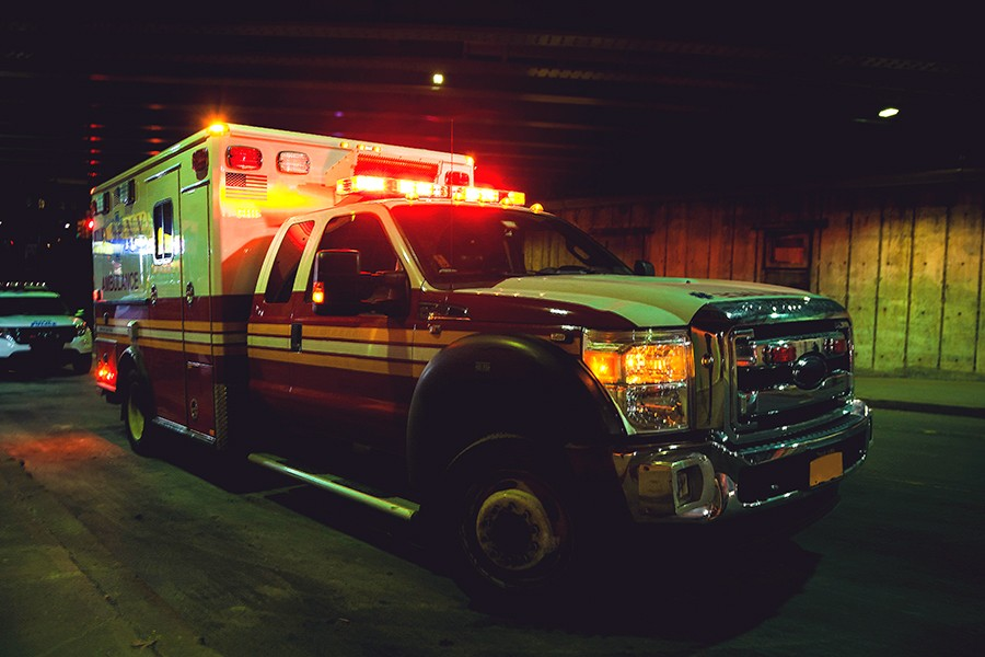 Ambulance at night