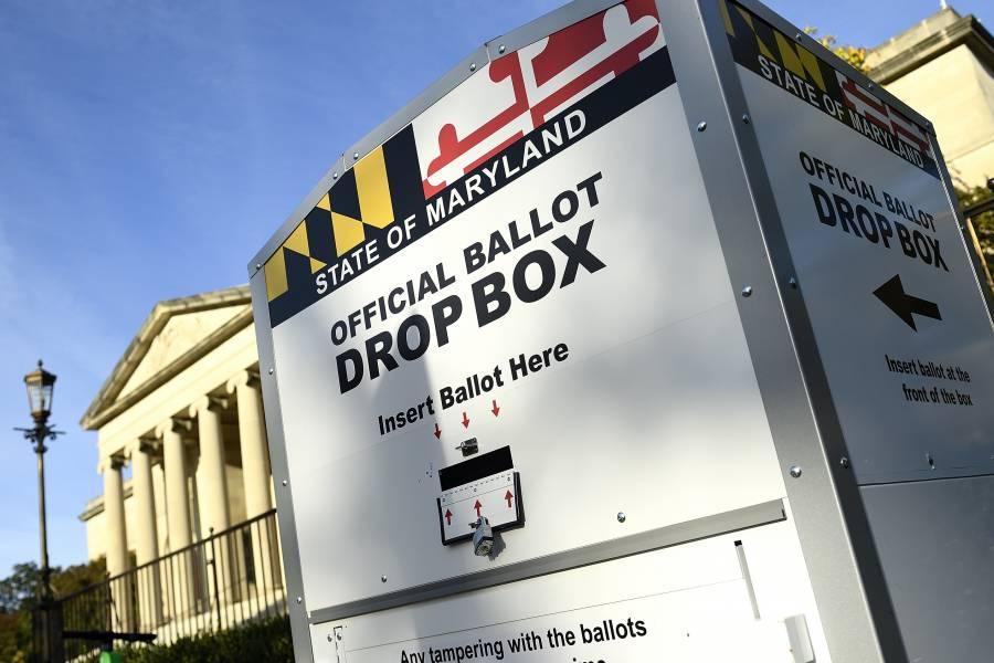 Ballot drop box in Maryland