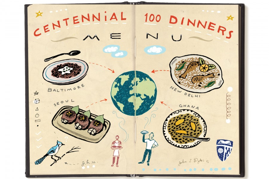 Illustration of a menu
