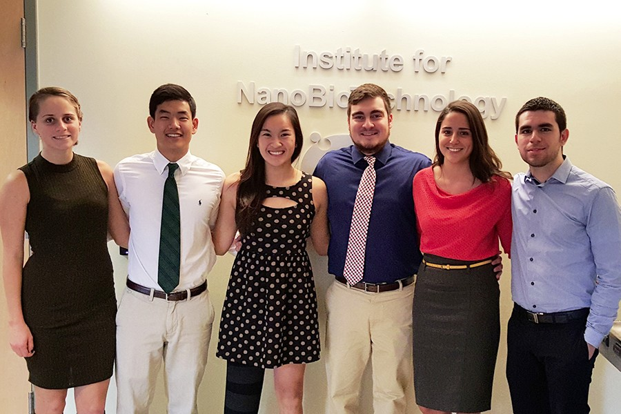 Undergraduate research team poses for group photo