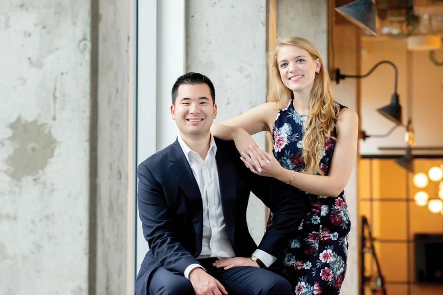 Allysa Dittmar (right) and Aaron Hsu