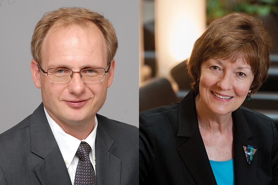Nikolas Matthes, SPH '98, and Laura Morlock, A&S '73